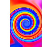 Psychedelic Color Swirl Photographic Print