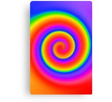 Psychedelic Color Swirl Canvas Print