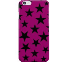 Pink and Black Stars iPhone Case/Skin