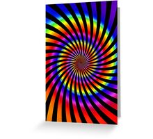 Colorful Psychedelic Spiral Pattern Greeting Card