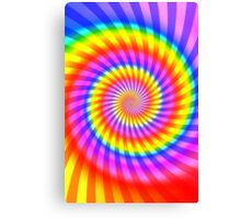 Colorful Psychedelic Spiral Pattern Canvas Print