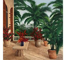 TUSCAN PATIO by Diane Romanello Photographic Print