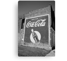 Route 66 - Coca Cola Ghost Mural Canvas Print