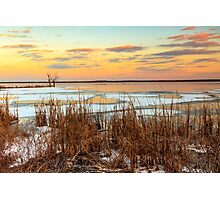 Sunset at Emiquon National Wildlife Refuge Photographic Print