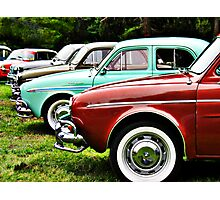 Renault Dauphine in line Photographic Print