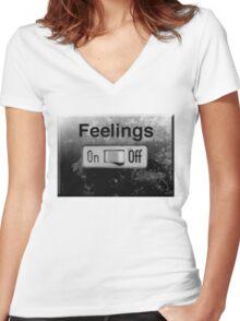 feelings Women's Fitted V-Neck T-Shirt