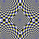 Expanding circles optical illusion. by Confundo