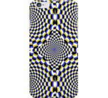 Expanding circles optical illusion. iPhone Case/Skin