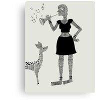 Patterned Girl Canvas Print