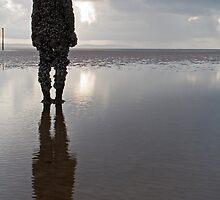 Iron man gazing: Crosby Beach nr Liverpool by Rebecca Mason