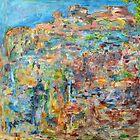 Escarpment, oil on canvas by Regina Valluzzi