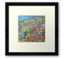 Escarpment, oil on canvas Framed Print