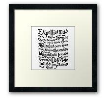 Harry Potter Magic Spells Framed Print