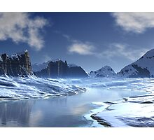 Ice River Valley Photographic Print