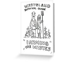 Wasteland Survival Guide - Farming Cover - Fallout 4 Greeting Card