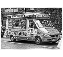Ice Cream Truck - London Poster