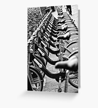 London Bicycles Greeting Card