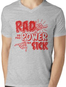 Rad to the Power of Sick- red Mens V-Neck T-Shirt