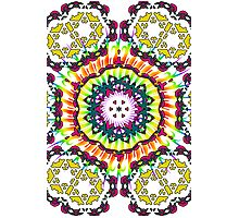 Abstract Kaleidoscope & Spiral Pattern Photographic Print