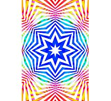 Colorful Radial Pattern Photographic Print