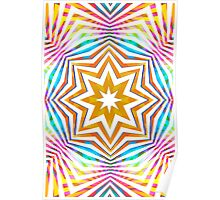 Colorful Radial Pattern Poster