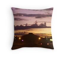 Ghost Battleship in the sky Throw Pillow