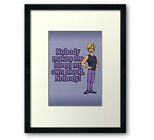 Bleed my own Blood Framed Print
