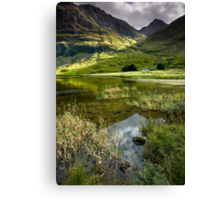 Light & Shadow in the Valley of Glencoe Canvas Print