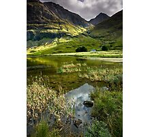 Light & Shadow in the Valley of Glencoe Photographic Print