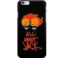 ALL ABOUT JACK--BLACK iPhone Case/Skin