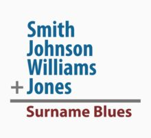 Surname Blues - Smith, Johnson, Williams & Jones by ns2photography