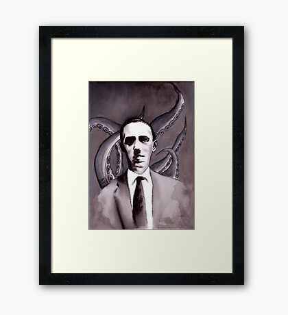 Shuddering At The Nameless Things Framed Print