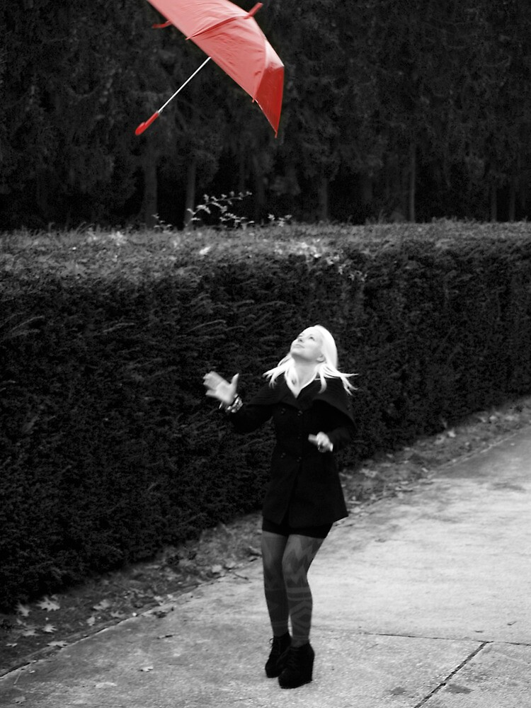 Red umbrella by ulryka