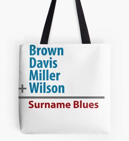 Surname Blues - Brown, Davis, Miller & Wilson Tote Bag