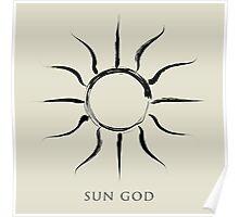 Sun God - Black Edition Poster