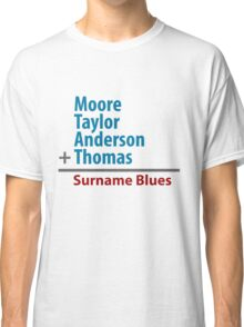 Surname Blues - Moore, Taylor, Anderson, Thomas Classic T-Shirt
