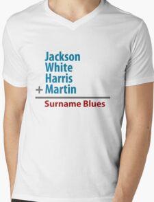 Surname Blues - Jackson, White, Harris, Martin Mens V-Neck T-Shirt