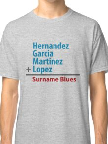 Surname Blues - Hernandez, Garcia, Martinez, Lopez Classic T-Shirt