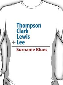 Surname Blues - Thompson, Clark, Lewis, Lee T-Shirt