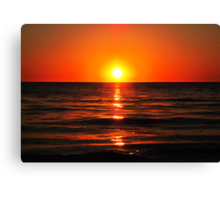 Bright Skies - Sunset Art Canvas Print