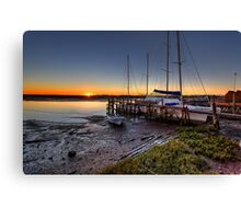 Sunset At Low Water Canvas Print