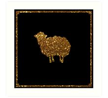 Golden sheep you are special strass bokeh  Art Print
