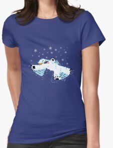 Wampa snow angel  Womens Fitted T-Shirt