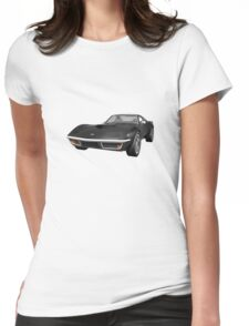Black 1970 Corvette Womens Fitted T-Shirt