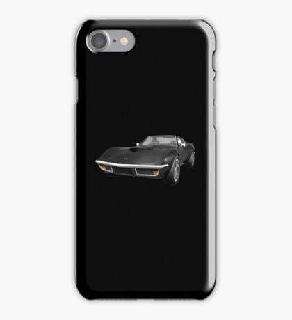 Black 1970 Corvette iPhone Case/Skin