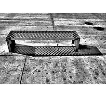 Hot Chrome Bench Photographic Print