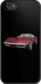 Candy Apple 1970 Corvette by bradyarnold