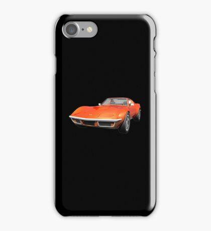 Orange 1970 Corvette iPhone Case/Skin