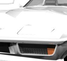 White 1970 Corvette Sticker
