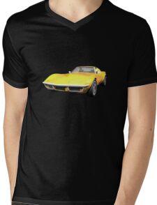 Yellow 1970 Corvette Mens V-Neck T-Shirt